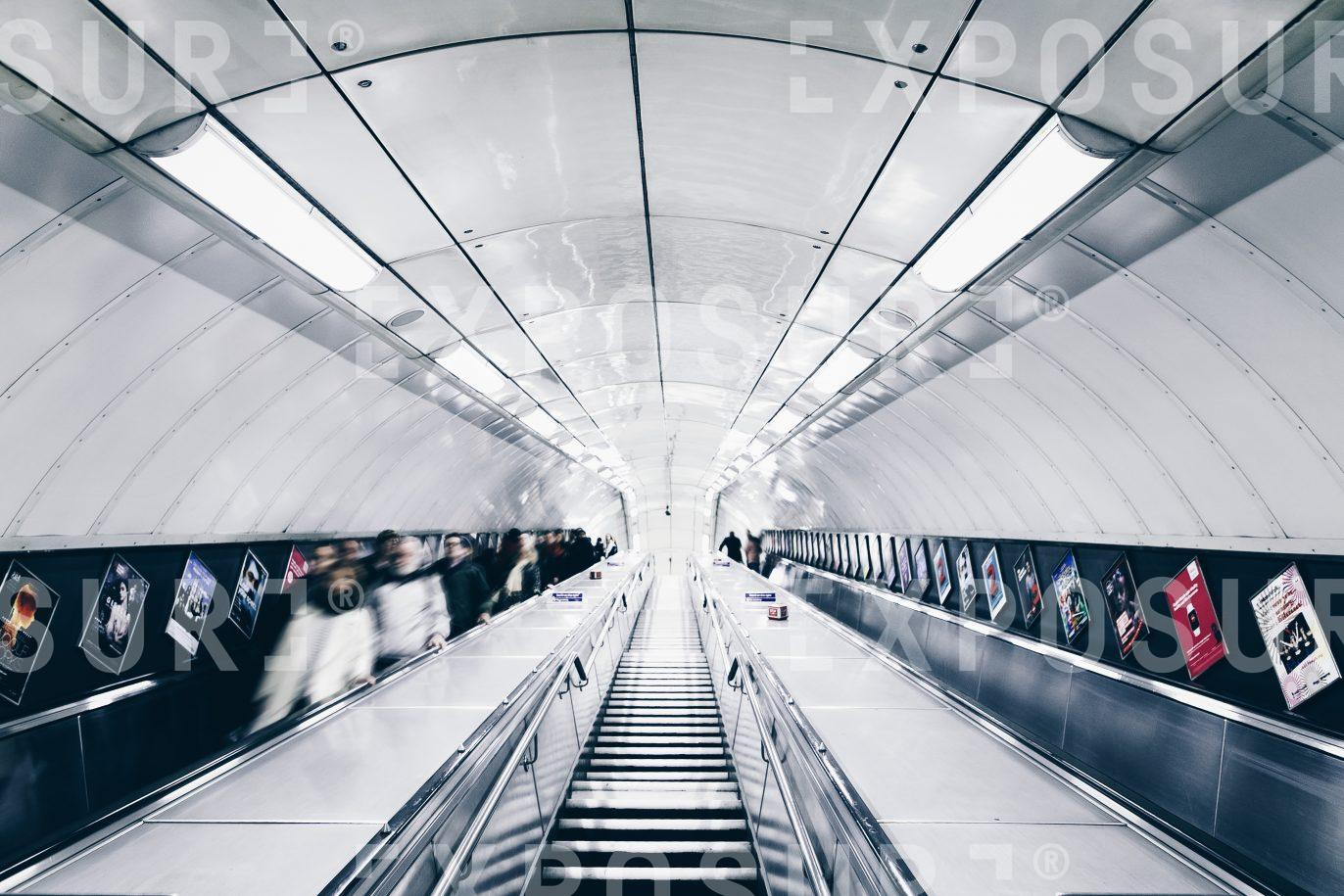 Escalator at a tube station