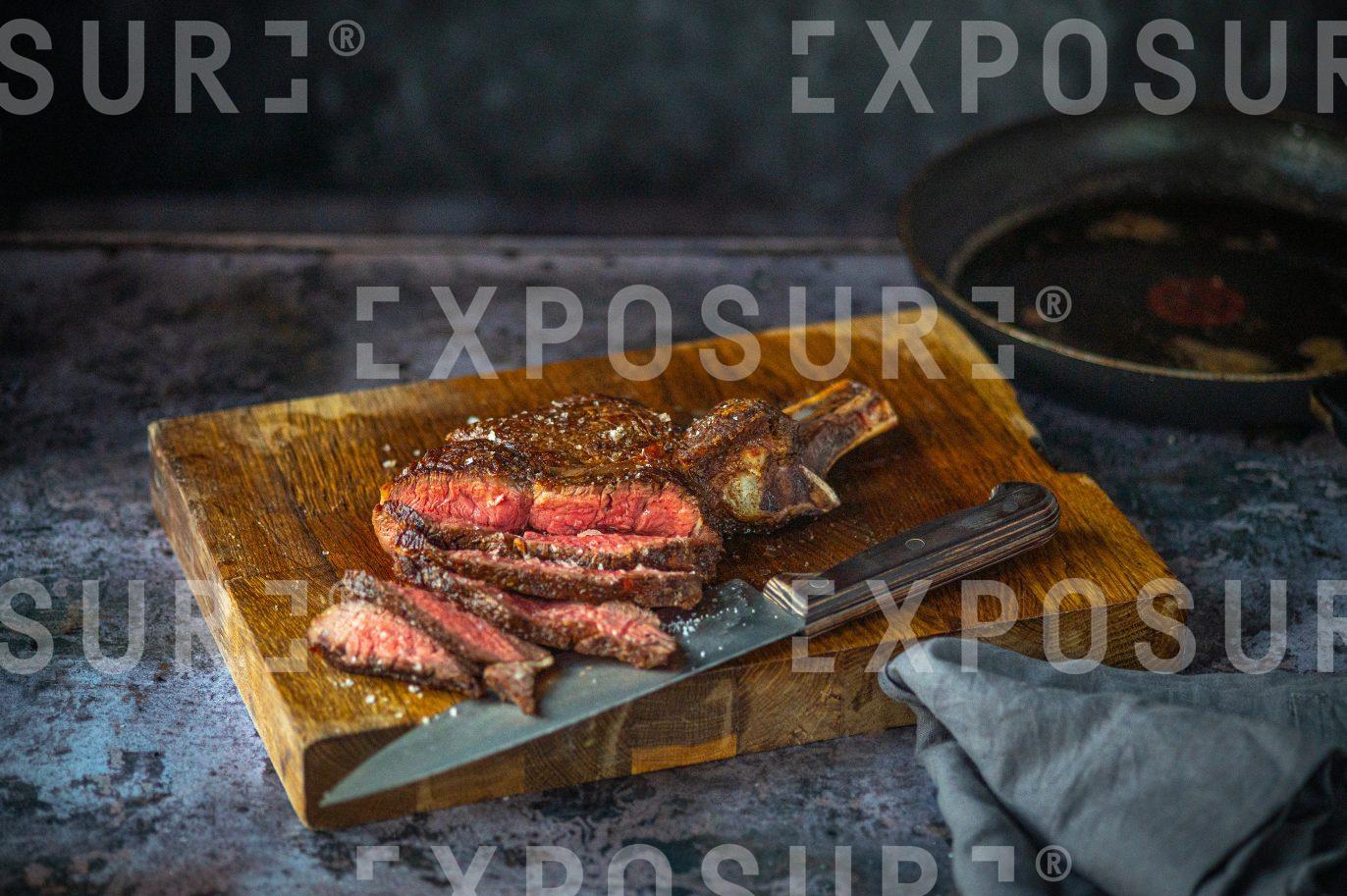 Medium-rare steak