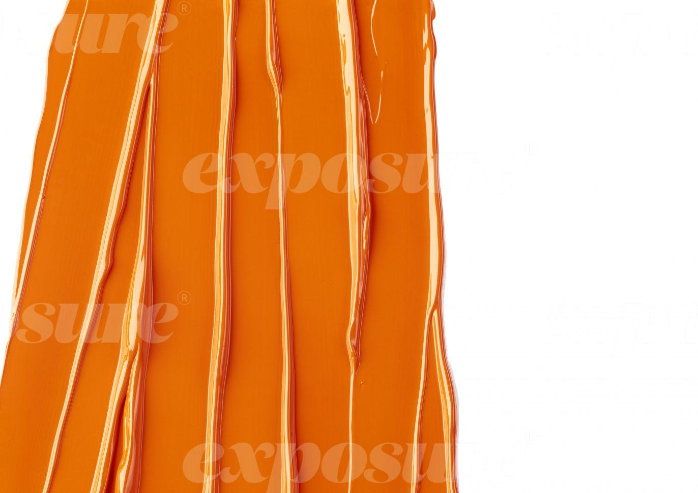 Orange paint stripe