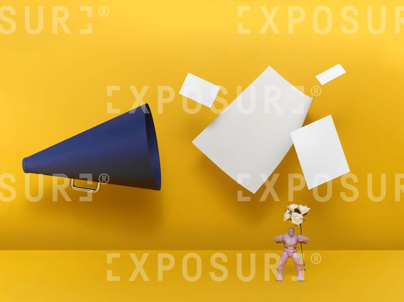 Megaphone and the angry man
