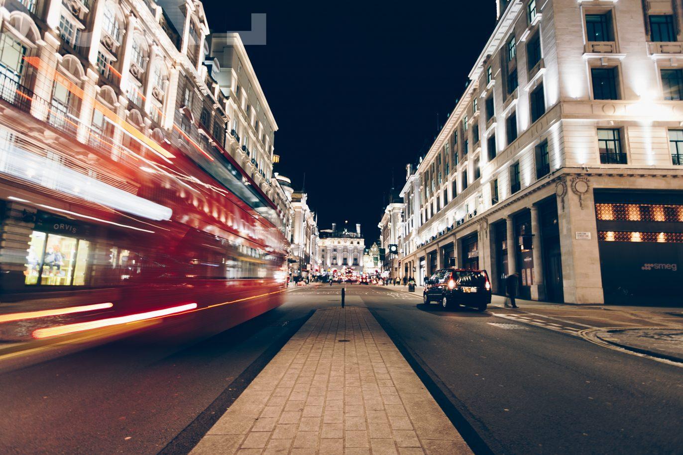 Oxford street by night