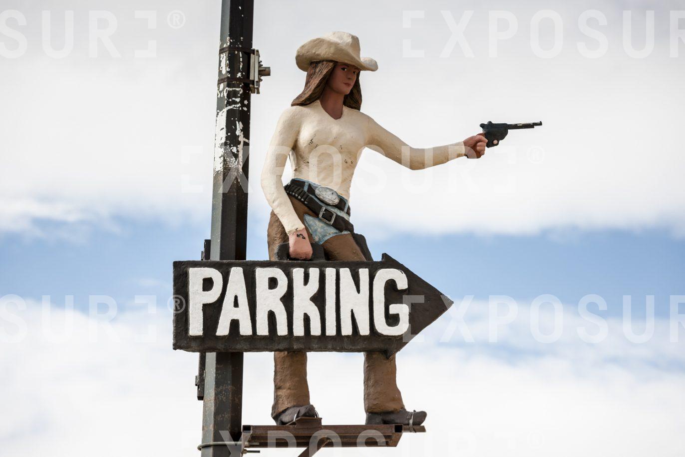 Car parking directions.