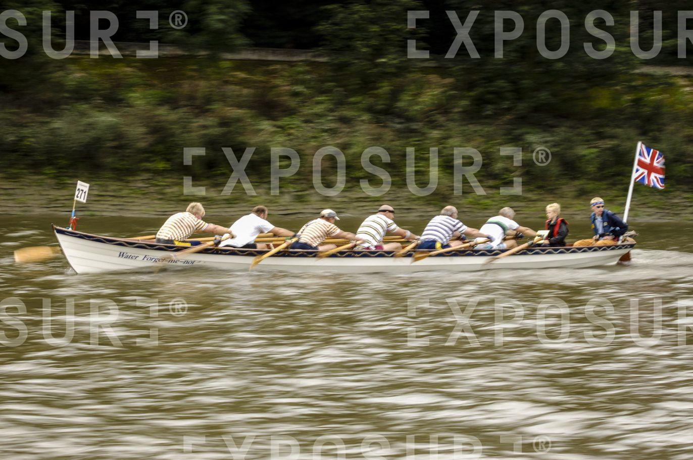 Rowing boat at speed.
