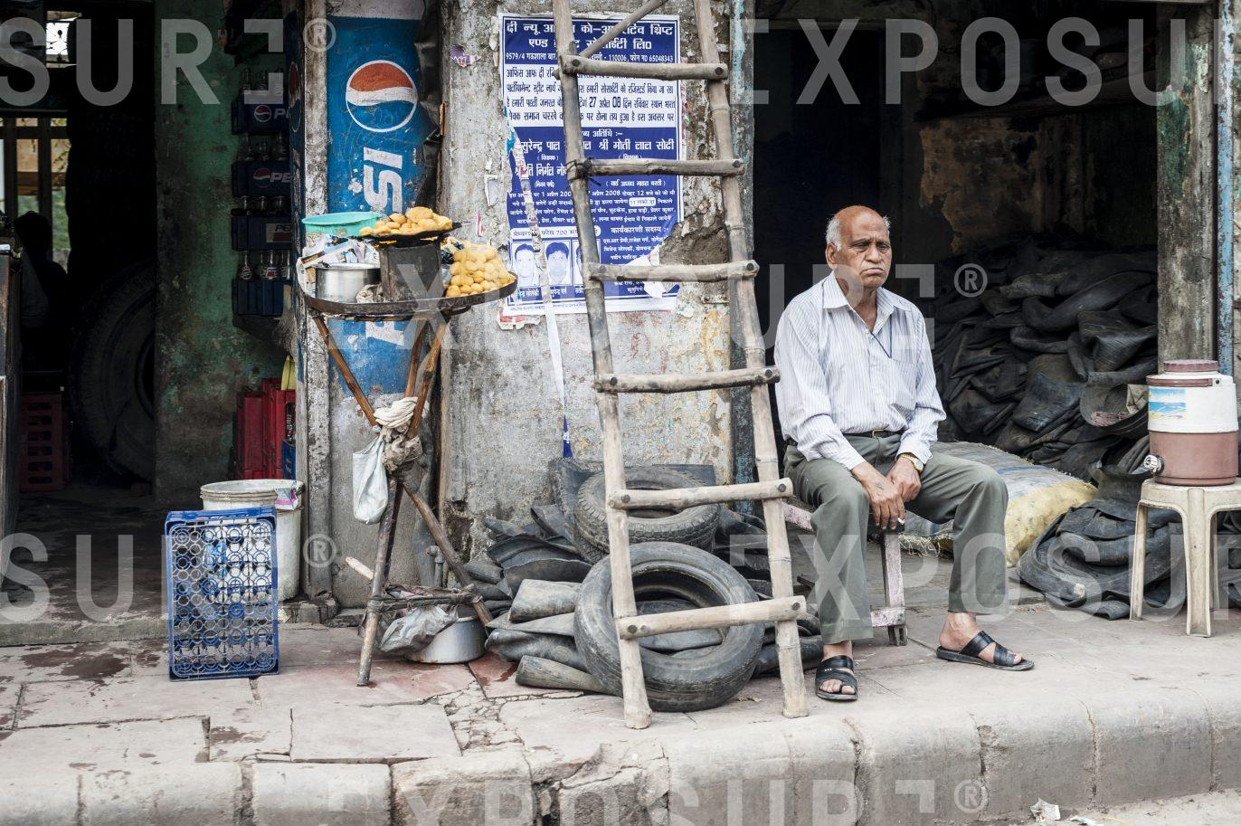 Tyre shop. New Delhi