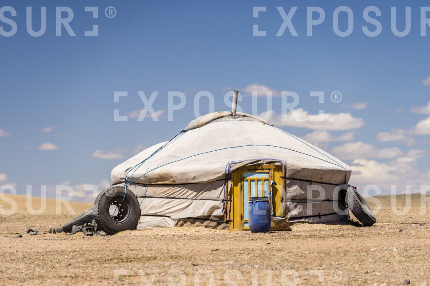 Mongolian yurt or ger